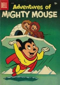 Vintage Children's magazine cover - Adventures of mighty mouse